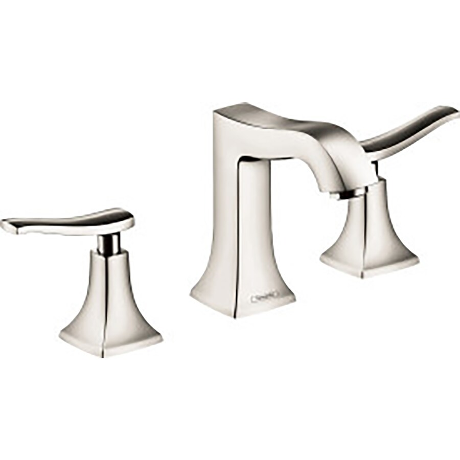 Hansgrohe Metris C Polished Nickel 2-Handle Widespread WaterSense Bathroom Faucet (Drain Included)