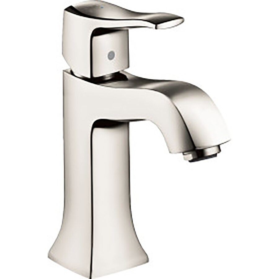 Hansgrohe Metris C Polished Nickel 1-Handle Single Hole WaterSense Bathroom Faucet Drain Included