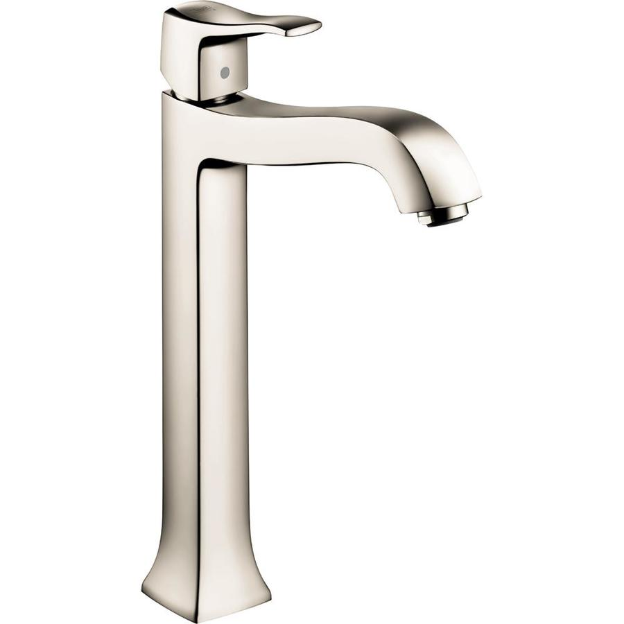 shop hansgrohe metris c polished nickel 1 handle single hole watersense bathroom faucet drain. Black Bedroom Furniture Sets. Home Design Ideas