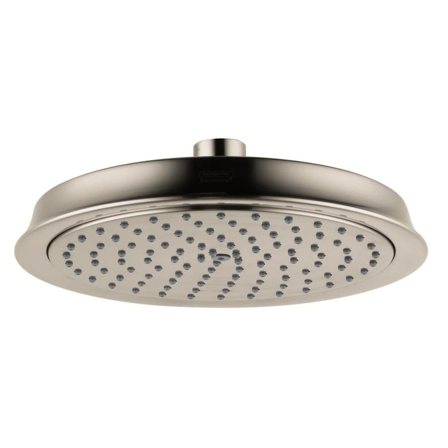 Hansgrohe HG 7-in 2.5-GPM (9.5-LPM) Brushed Nickel Rain Showerhead