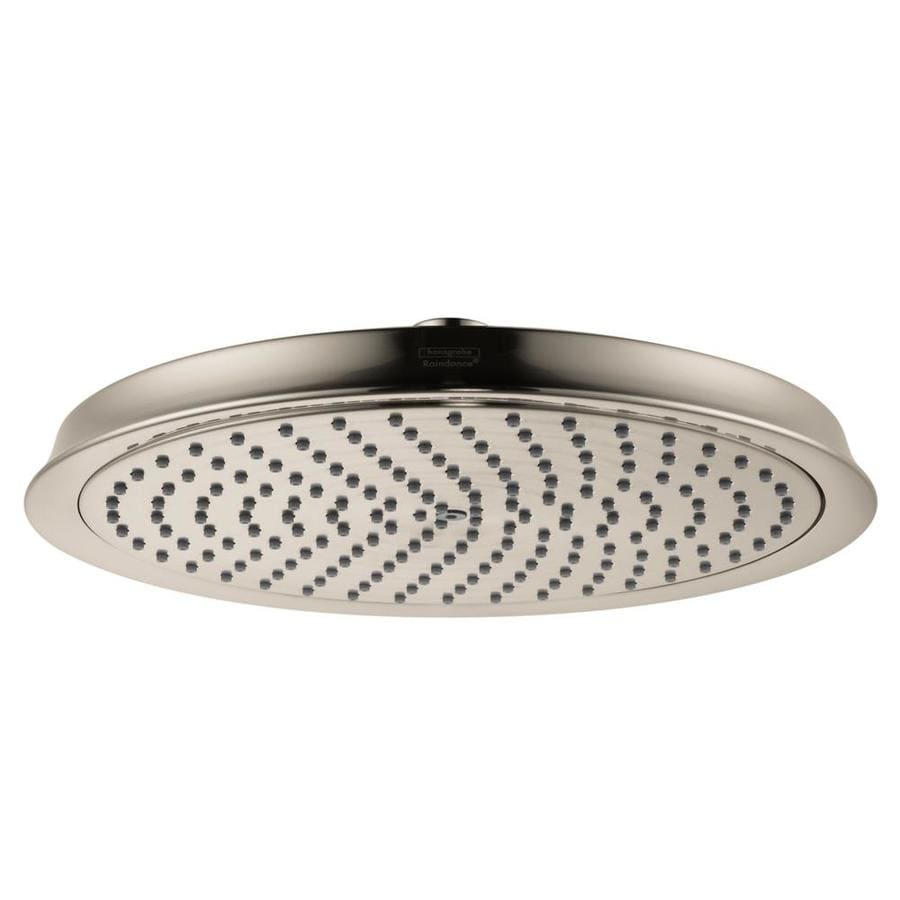 Hansgrohe HG 10-in 2.5-GPM (9.5-LPM) Brushed Nickel 1-Spray Rain Showerhead