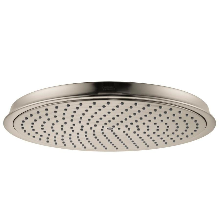 Hansgrohe HG 12-in 2.5-GPM (9.5-LPM) Brushed Nickel Rain Showerhead