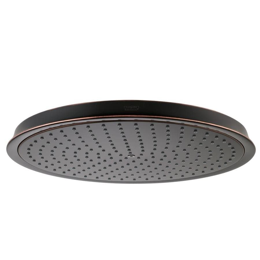 Hansgrohe HG 12-in 2.5-GPM (9.5-LPM) Rubbed Bronze 1-Spray Rain Showerhead