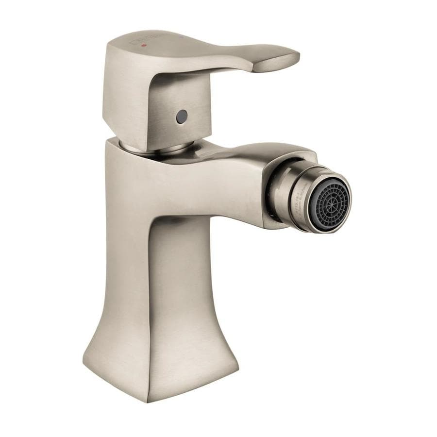 shop hansgrohe metris c brushed nickel horizontal spray bidet faucet at. Black Bedroom Furniture Sets. Home Design Ideas