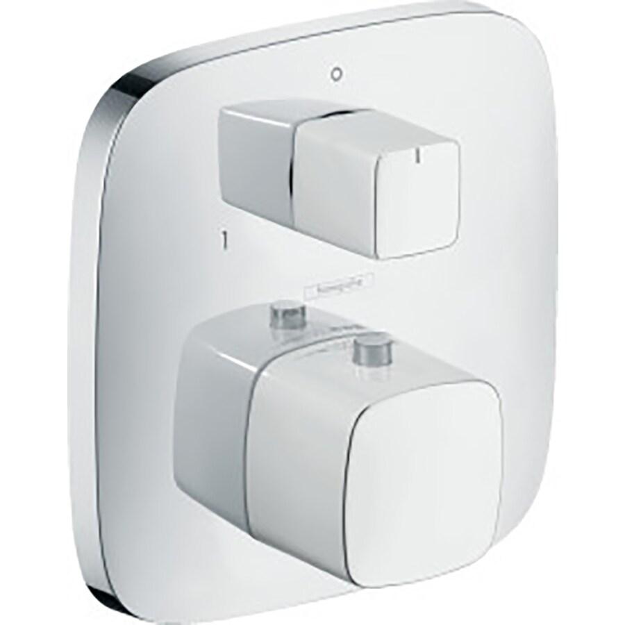 Hansgrohe White/Chrome Shower Handle