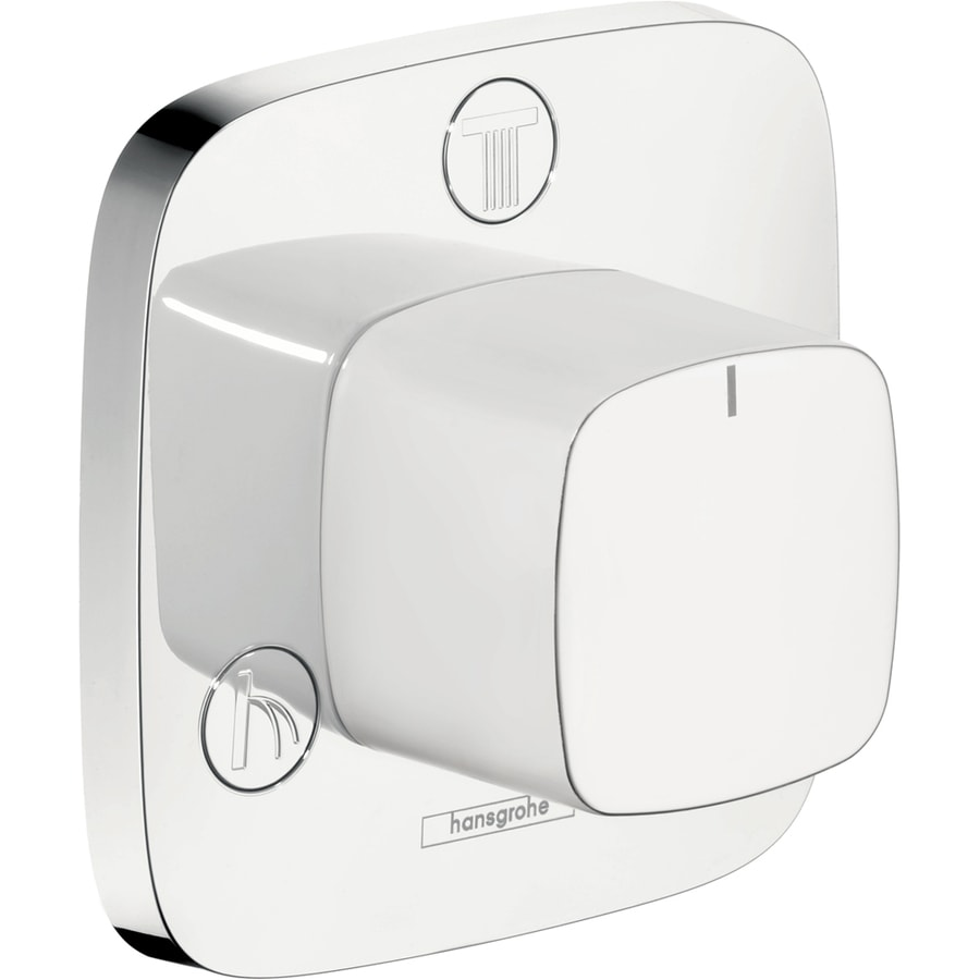 Shop hansgrohe white chrome shower handle at - Hansgrohe shower handle ...
