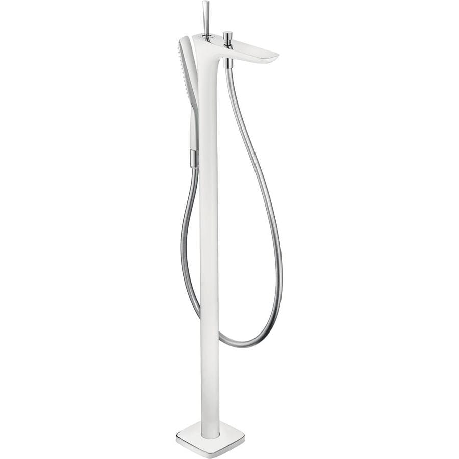 Hansgrohe PuraVida White/Chrome 1-Handle Freestanding Bathtub Faucet