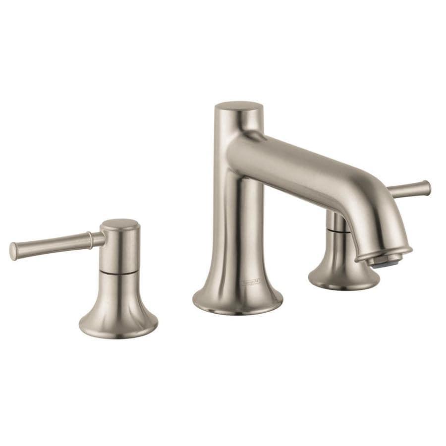 Hansgrohe talis c brushed nickel 2 handle deck mount roman bathtub faucet at for Hansgrohe talis bathroom faucet