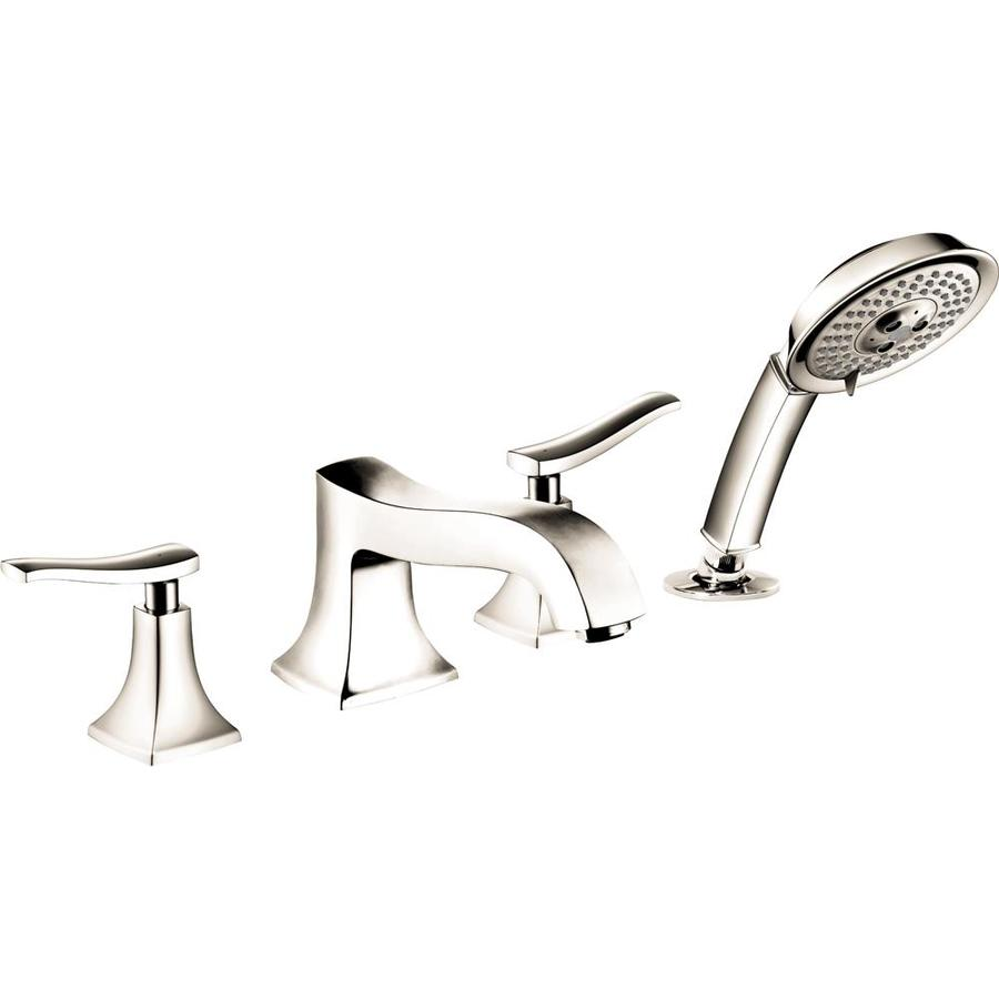 Hansgrohe Metris C Polished Nickel 2-Handle Deck Mount Bathtub Faucet