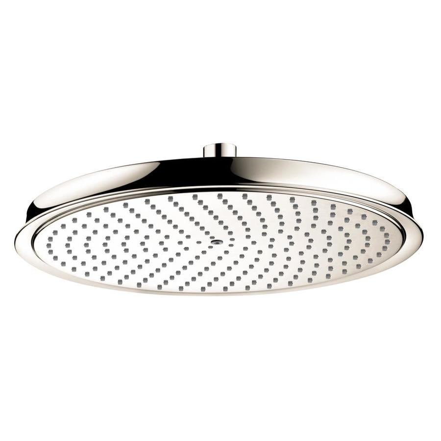 Hansgrohe HG 12-in 2.5-GPM (9.5-LPM) Polished Nickel 1-Spray Rain Showerhead