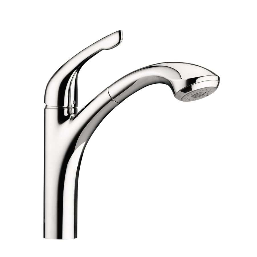Shop Hansgrohe HG Kitchen Chrome Handle LowArc Kitchen Faucet - Low arc kitchen faucet