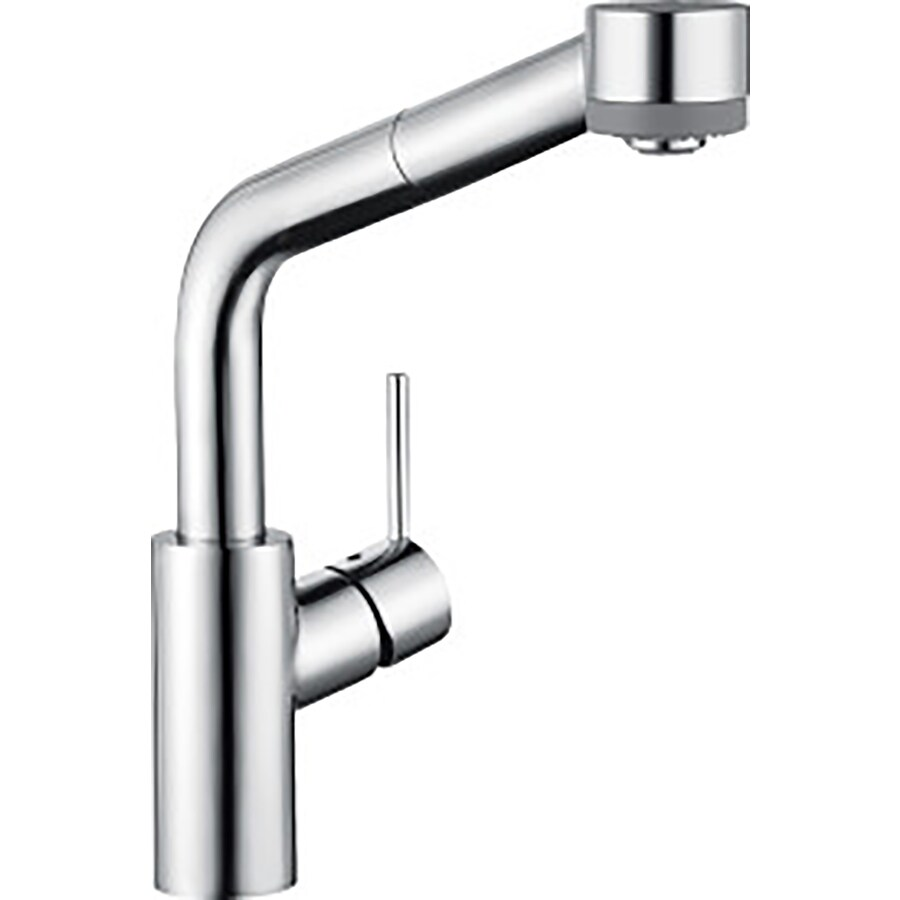 hans grohe kitchen faucets hansgrohe hg kitchen chrome 1 handle deck mount low arc kitchen faucet at lowes com 6529