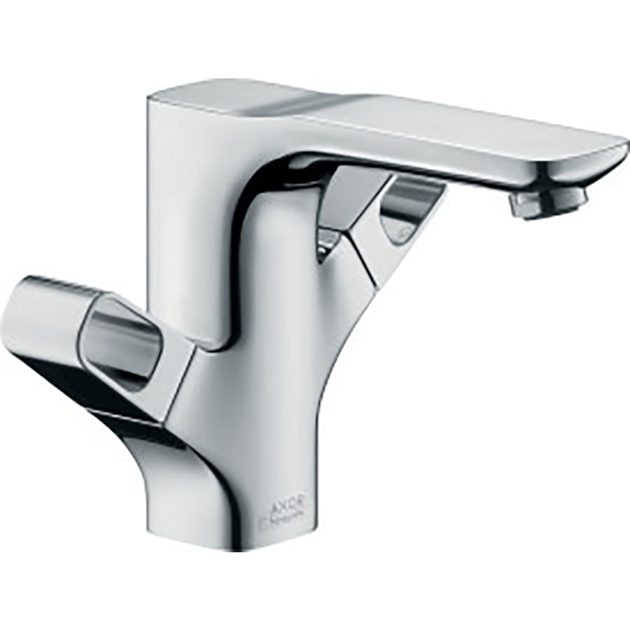 shop hansgrohe axor urquiola chrome 2 handle single hole bathroom faucet drain included at. Black Bedroom Furniture Sets. Home Design Ideas