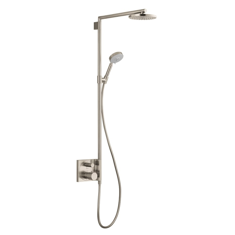 Hansgrohe Hg 2-Way Brushed Nickel Shower Bar System