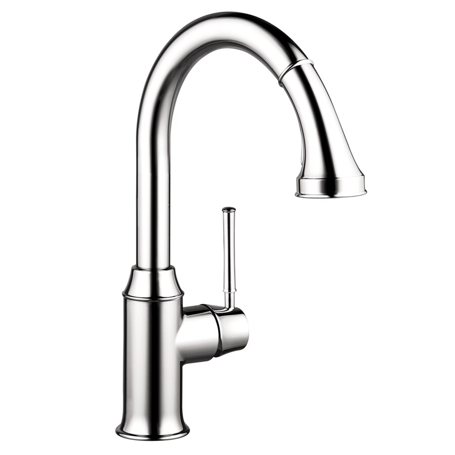 Hansgrohe Hg Kitchen Chrome 1-Handle Handle(S) Included Pull-Down Sink/Counter Mount Traditional Kitchen Faucet