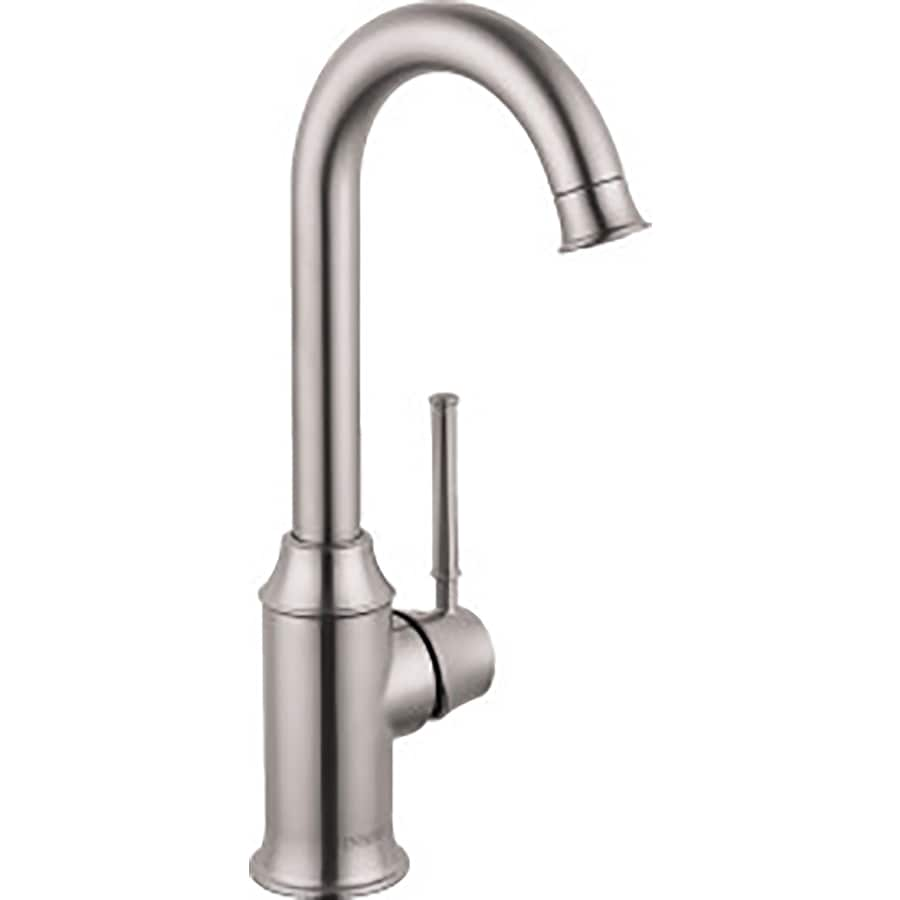 Hansgrohe Hg Kitchen Steel Optik 1-Handle Handle(S) Included Bar and Prep Faucet