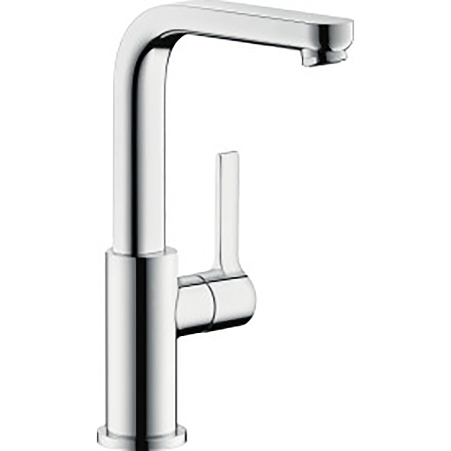 Hansgrohe Metris S Chrome 1-Handle Single Hole Bathroom Faucet (Drain Included)