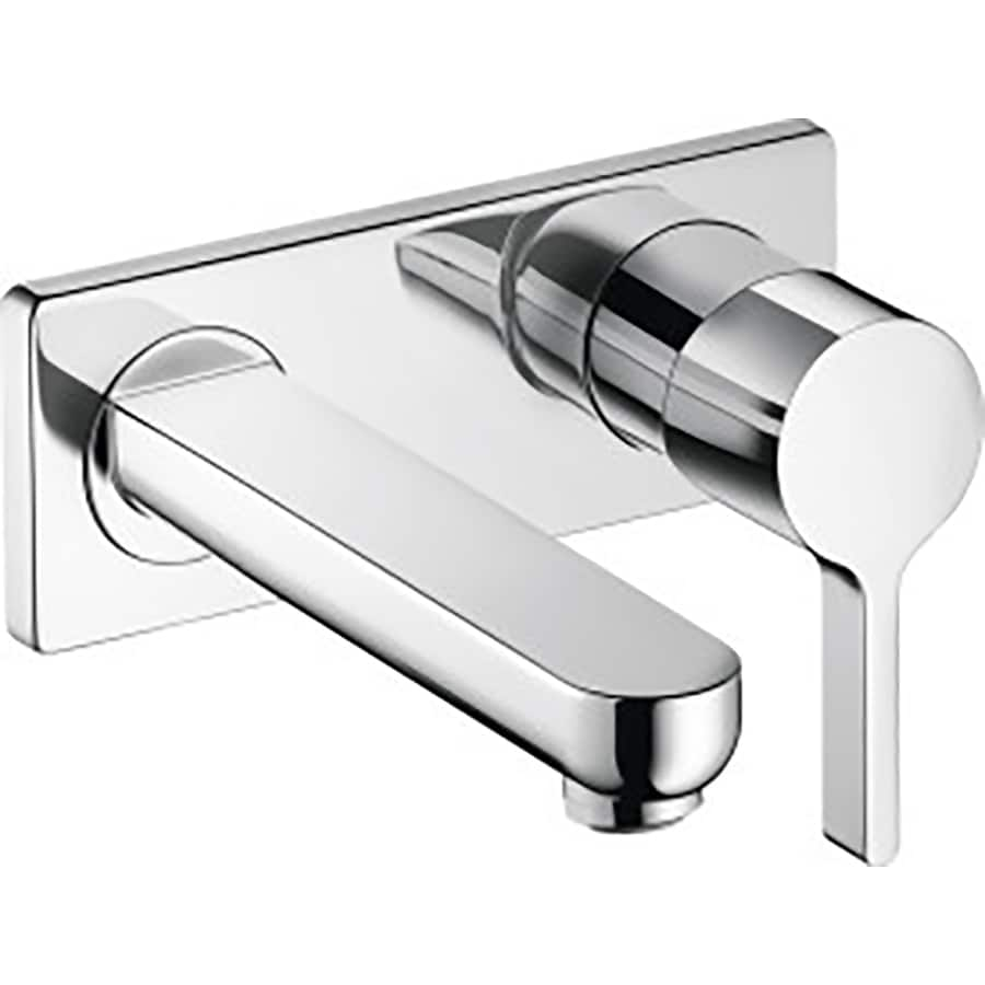 Hansgrohe Metris S Chrome 1-Handle 4-in Centerset Bathroom Faucet (Drain Included)
