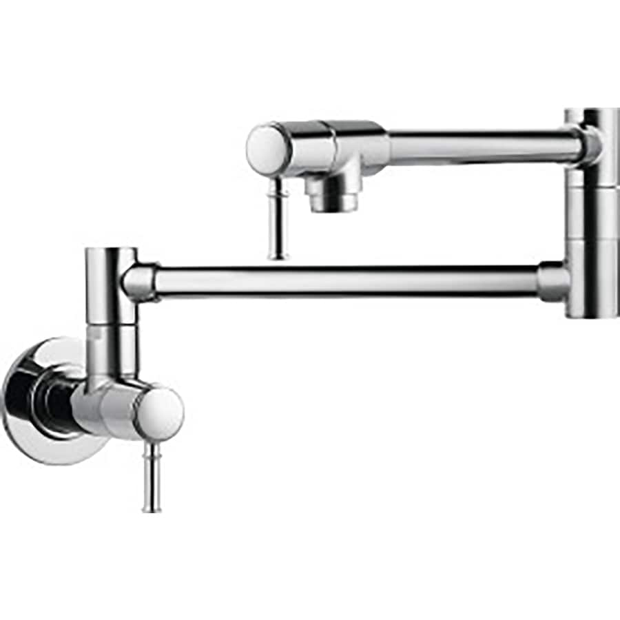 Wall Mounted Kitchen Faucets Shop Hansgrohe Hg Kitchen Chrome 2 Handle Pot Filler Wall Mount