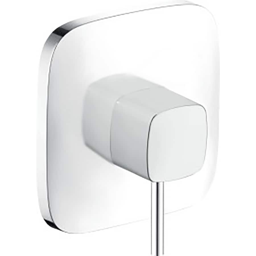 Shop hansgrohe white chrome lever shower handle at - Hansgrohe shower handle ...