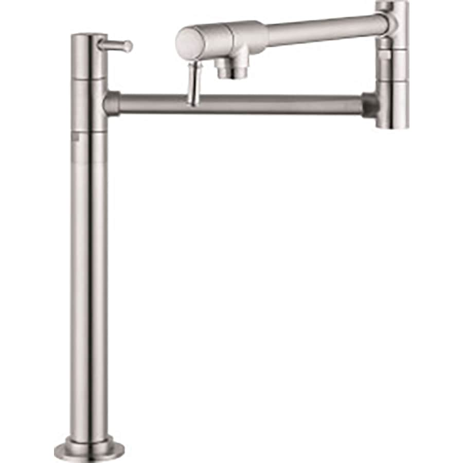 Pot Sink Faucet : ... Kitchen Steel Optik 2-Handle Pot Filler Mount Kitchen Faucet at Lowes