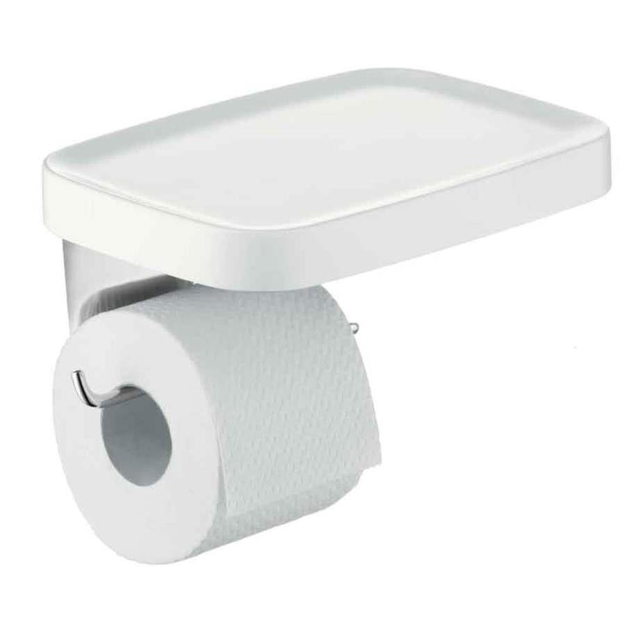 Hansgrohe Axor Bouroullec White/Chrome Surface Mount Toilet Paper Holder
