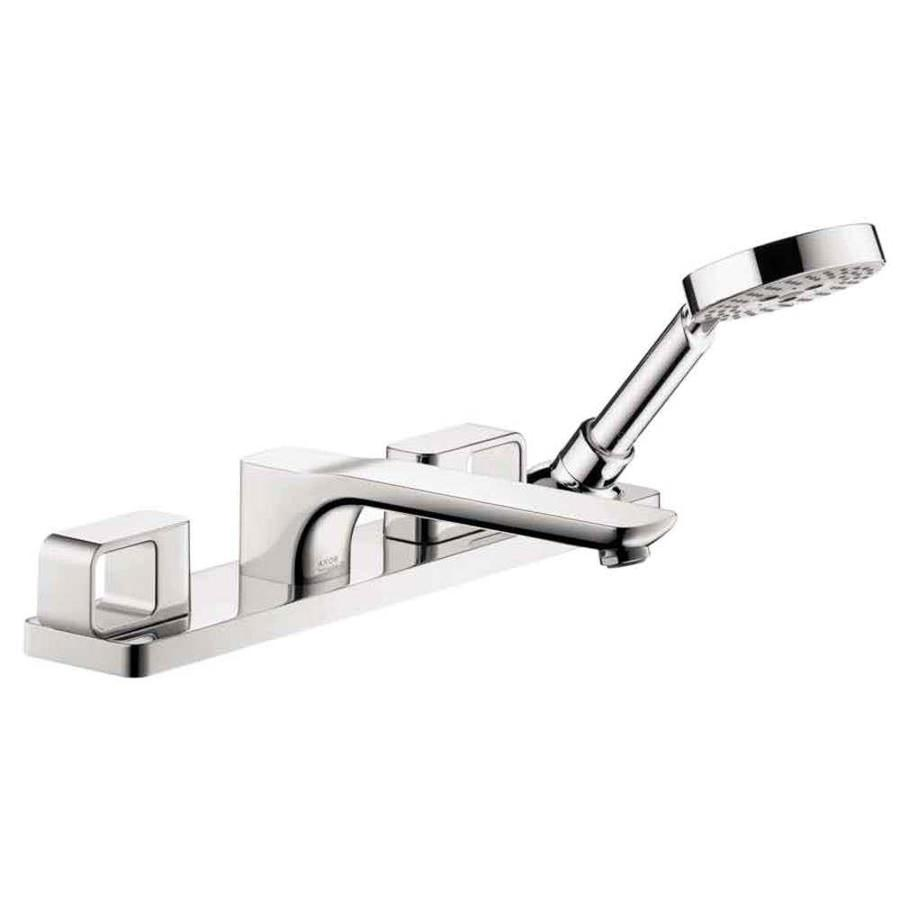 shop hansgrohe axor urquiola chrome 2 handle deck mount bathtub faucet at. Black Bedroom Furniture Sets. Home Design Ideas