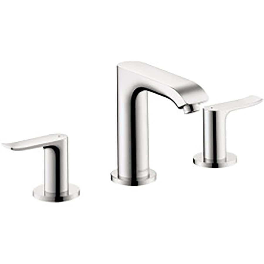 shop hansgrohe metris chrome 2 handle widespread bathroom faucet drain included at. Black Bedroom Furniture Sets. Home Design Ideas
