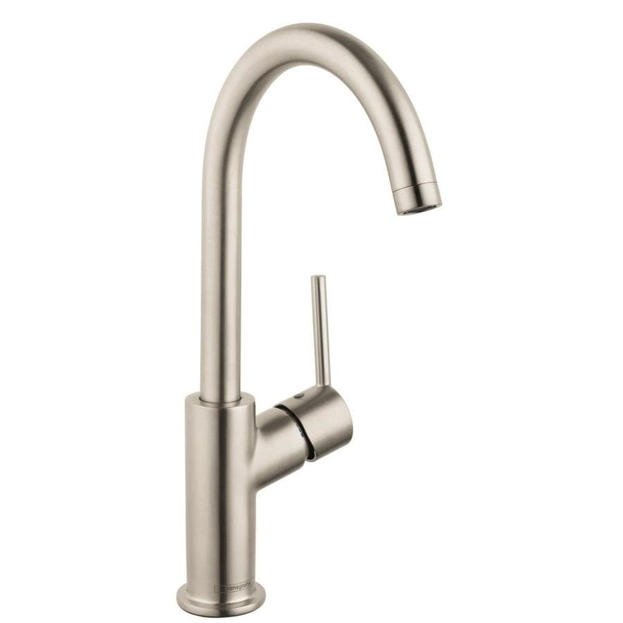 Hansgrohe Talis S Brushed Nickel 1-Handle Single Hole Bathroom Faucet (Drain Included)
