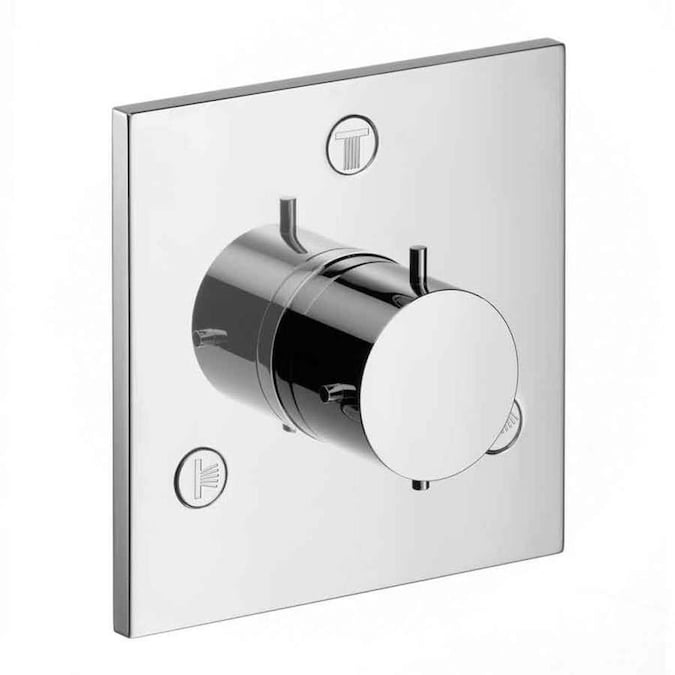 Hansgrohe Chrome Knob Shower Handle In The Shower Faucet