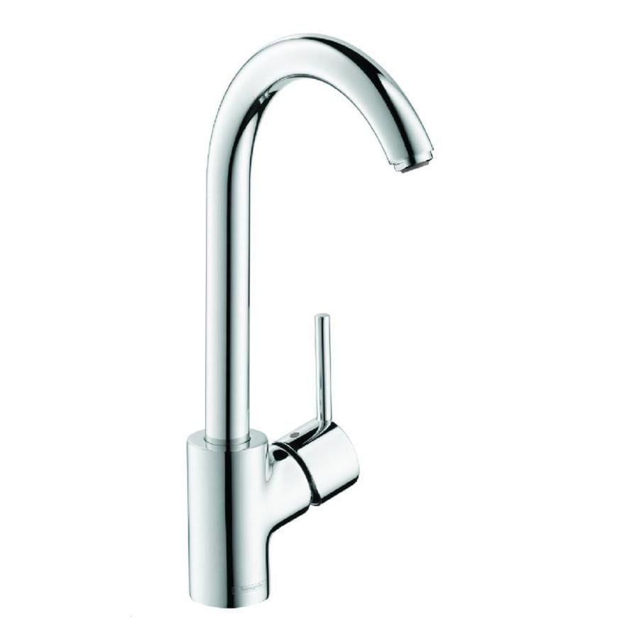 hans grohe kitchen faucets hansgrohe talis s chrome 1 handle high arc kitchen faucet at lowes com 3548