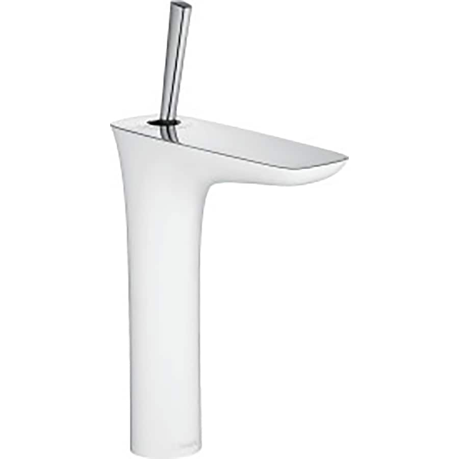 Hansgrohe Puravida White/Chrome 1-Handle Single Hole Bathroom Faucet