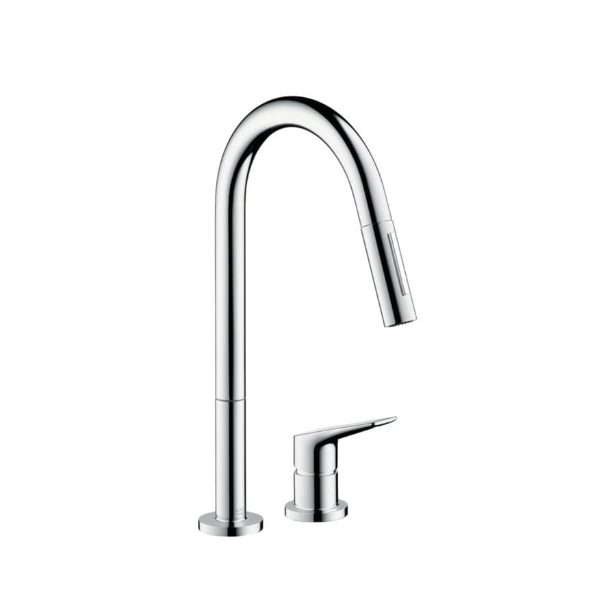 Hansgrohe Citterio Chrome 1-Handle Pull-Down Kitchen Faucet