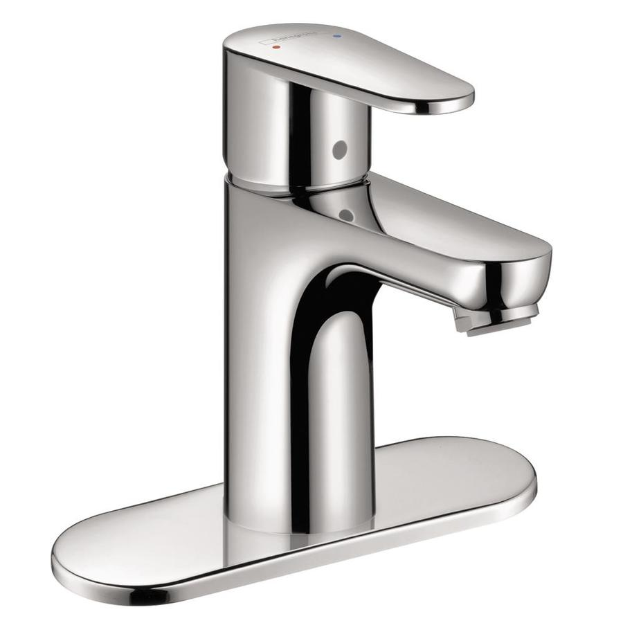 Hansgrohe Commercial Chrome 1-Handle Single Hole WaterSense Bathroom Faucet Drain Included