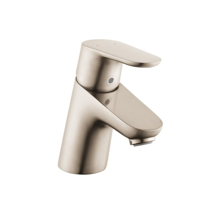 Hansgrohe Focus Brushed Nickel 1-Handle Single Hole WaterSense Bathroom Faucet (Drain Included)