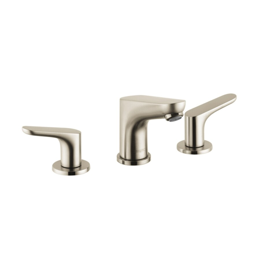 Hansgrohe Focus Brushed Nickel 2-Handle Widespread WaterSense Bathroom Faucet (Drain Included)