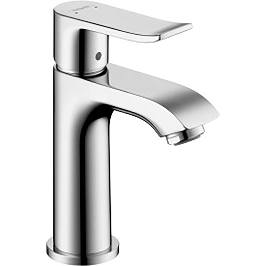 shop hansgrohe metris chrome 1 handle single hole bathroom faucet drain included at. Black Bedroom Furniture Sets. Home Design Ideas