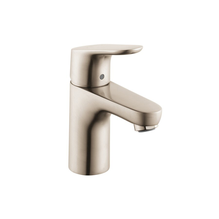 Hansgrohe Focus Brushed Nickel 1-Handle Single Hole WaterSense Bathroom Faucet (Drain Included)