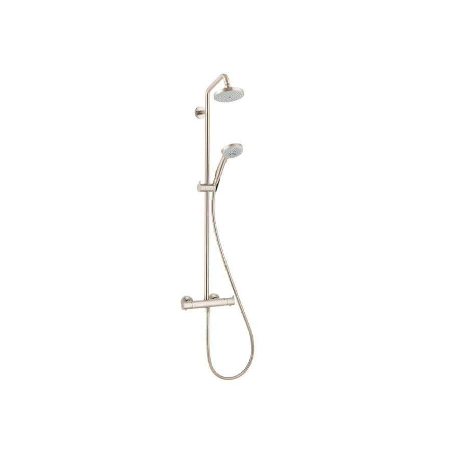Shop Hansgrohe Croma Brushed Nickel 1-Spray Shower Head at Lowes.com