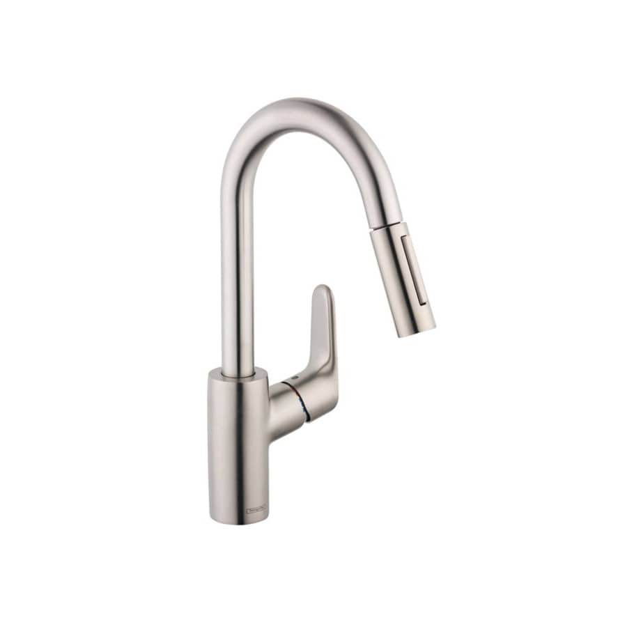 Hansgrohe Focus Steel Optik 1-Handle Handle(S) Included Bar and Prep Faucet