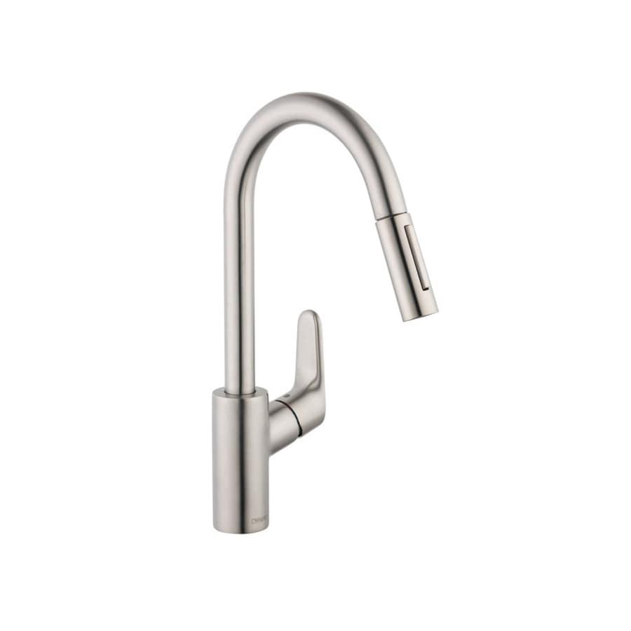 Hansgrohe Focus Steel Optik 1-Handle Pull-Down Kitchen Faucet