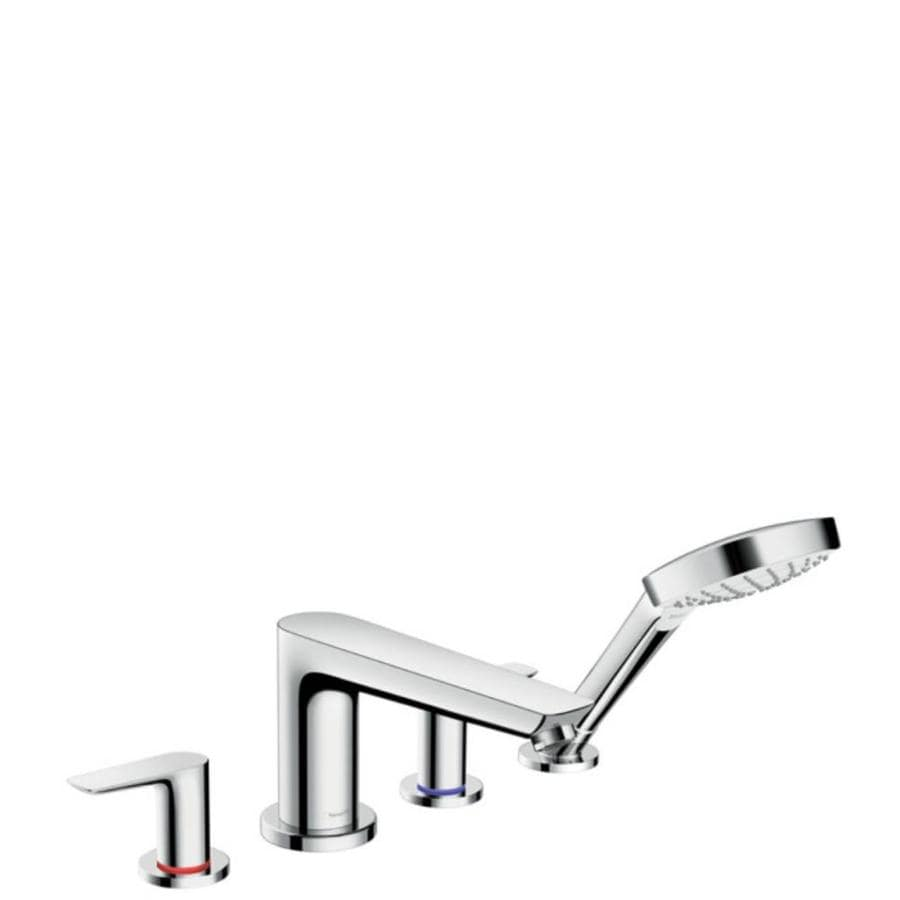 Shop Hansgrohe Talis Polished Chrome 2-Handle Fixed Deck mount ...