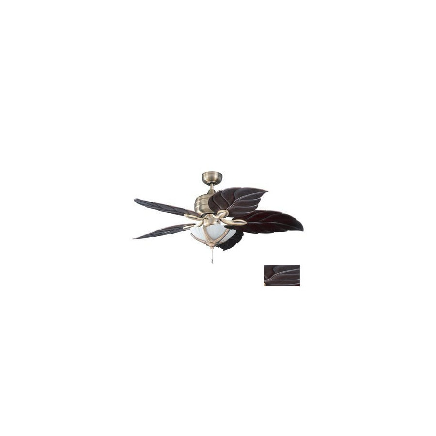 Kendal Lighting 52-in Copacaba Havana Brass Ceiling Fan