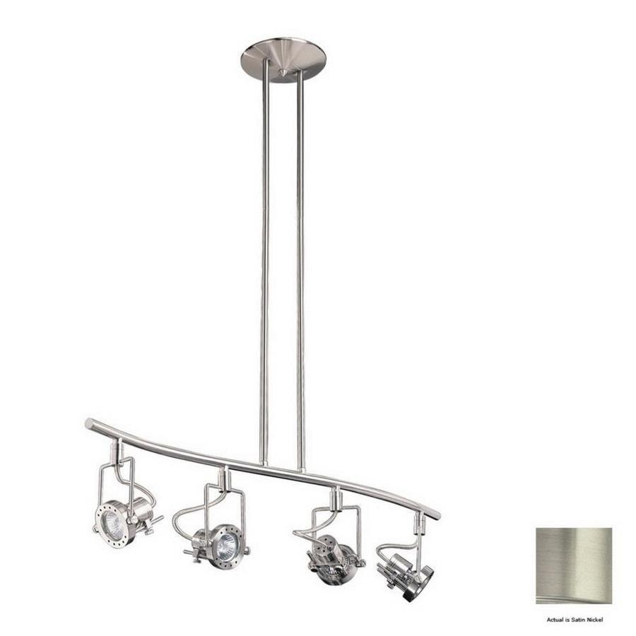 Kendal Lighting 4-Light 32.5-in Satin Nickel Gimbal Linear Track Lighting Kit