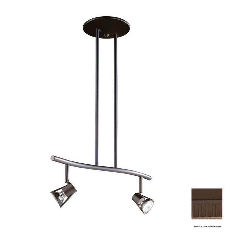 Kendal Lighting 2-Light 18.5-in Oil-Rubbed Bronze Step Linear Track Lighting Kit