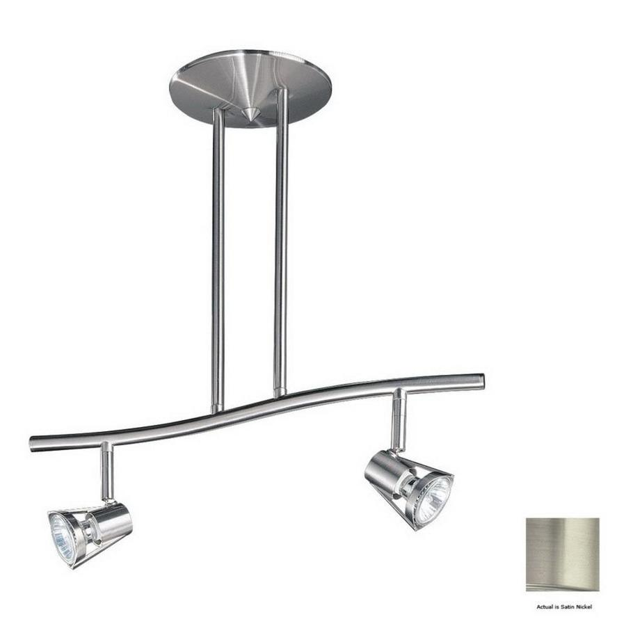 Shop kendal lighting 2 light 18 5 in satin nickel step for S shaped track lighting