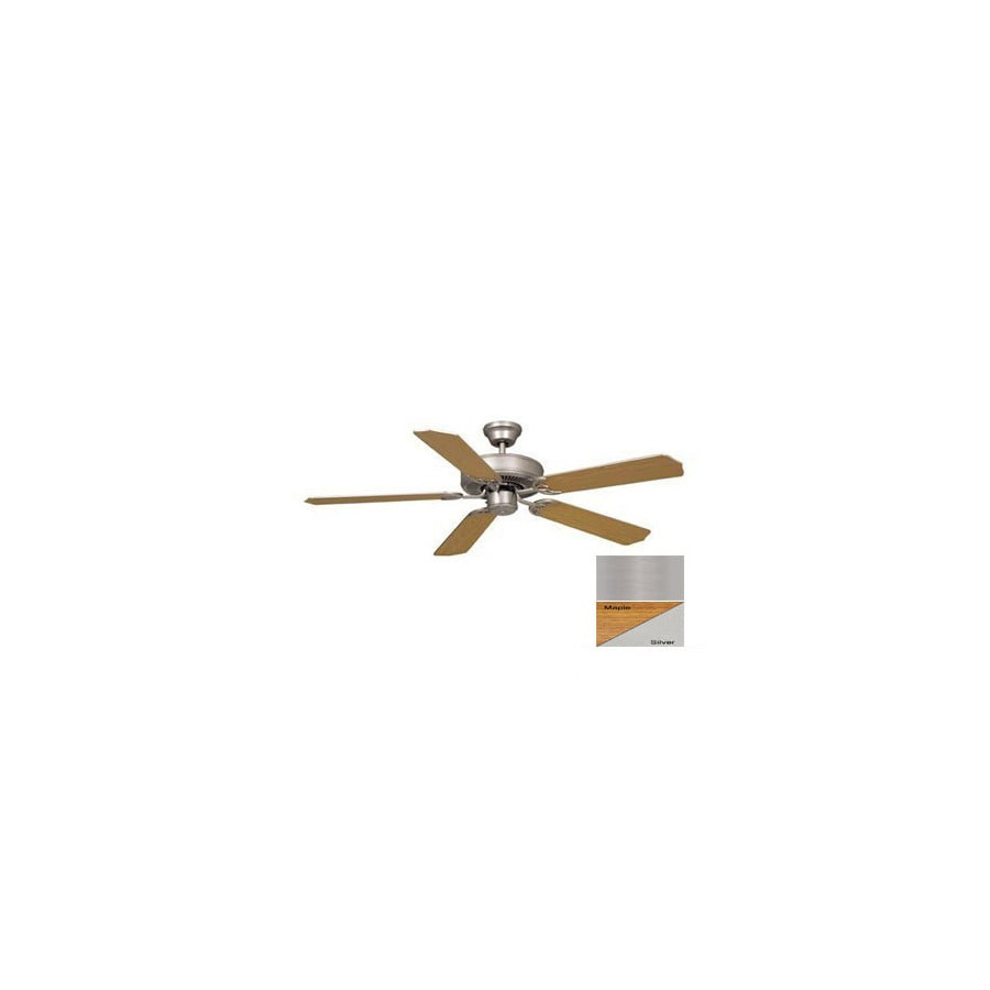 Cascadia Lighting 52-in Medallion Brushed Nickel Ceiling Fan