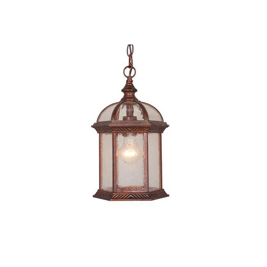 Cascadia Lighting Chateau 13-1/2-in Royal Bronze Outdoor Pendant Light