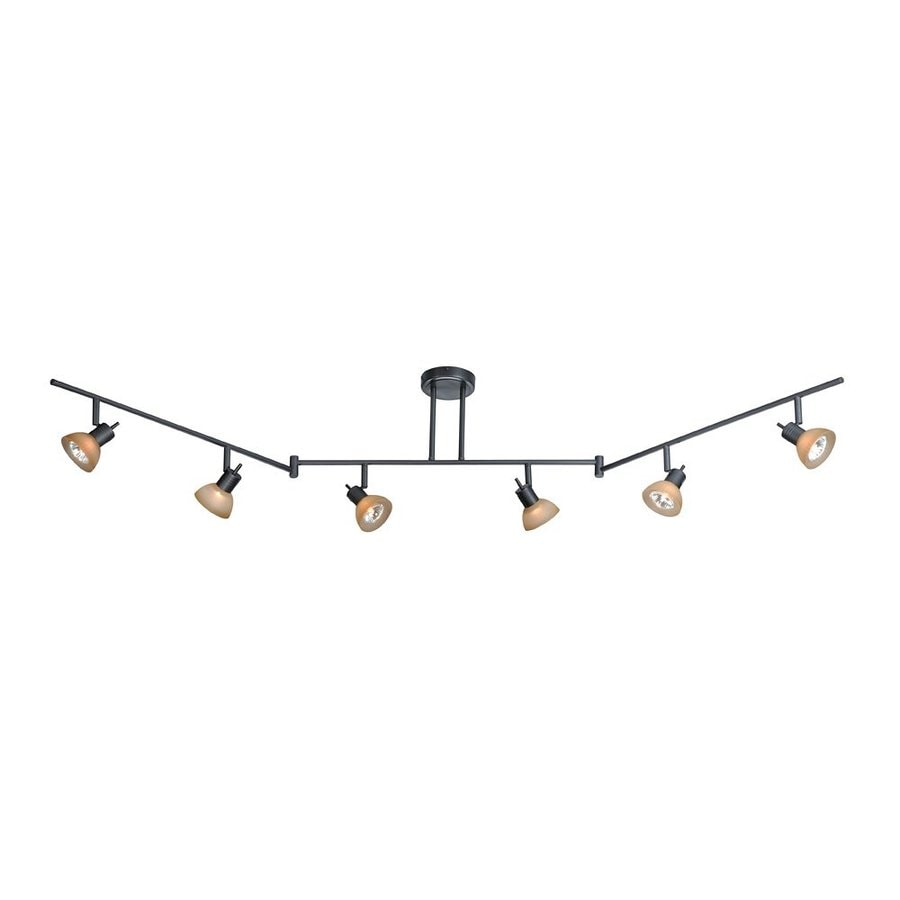 Shop cascadia lighting como 6 light 72 in dark bronze dimmable cascadia lighting como 6 light 72 in dark bronze dimmable standard flexible track light aloadofball Gallery