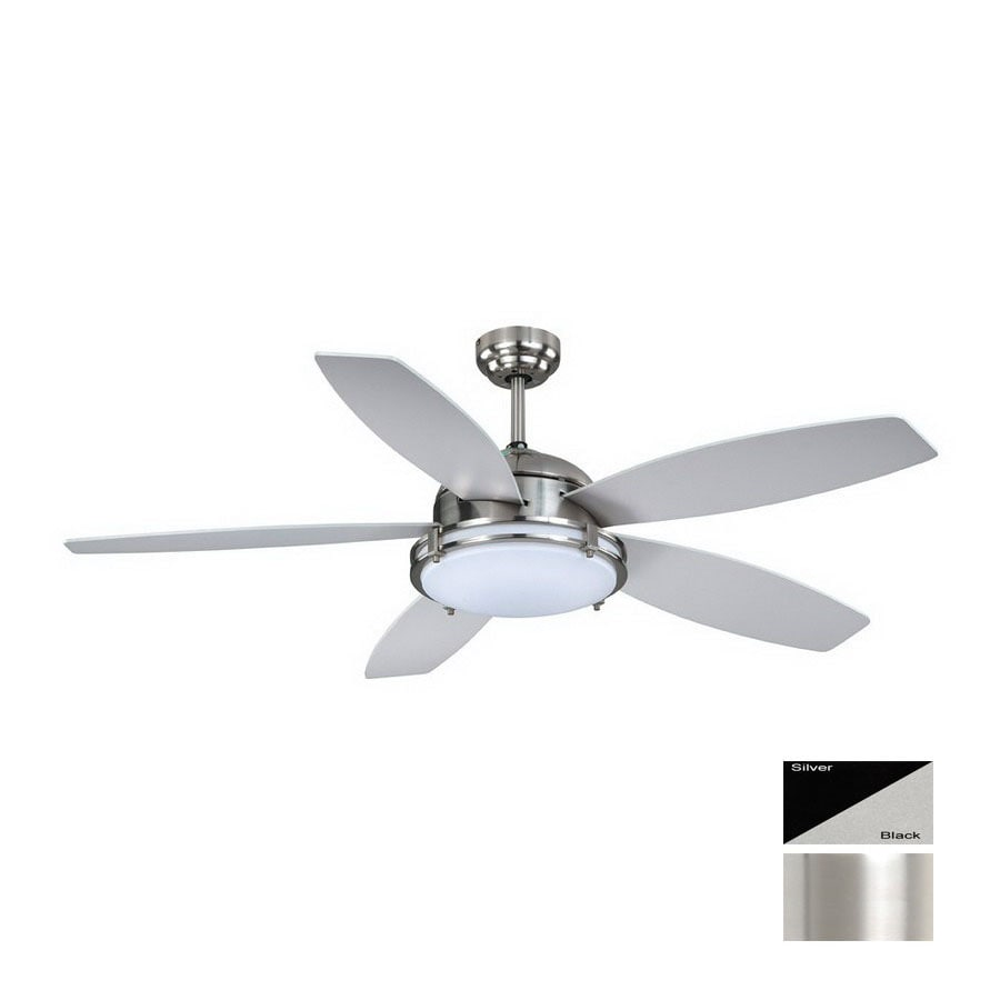 Cascadia Lighting 52-in Taliesin Satin Nickel Ceiling Fan with Light Kit and Remote